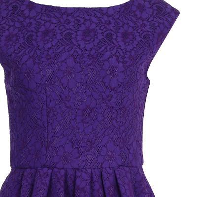 flower pattern flare dress
